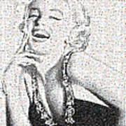 Marilyn Monroe In Mosaic Poster