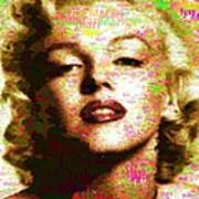 Marilyn Monroe Name Characters Poster