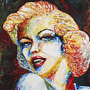 Marilyn Monroe Original Palette Knife Painting Poster