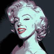 Marilyn Monroe Pop Art Poster by Daniel Hagerman