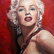 Marilyn Monroe - Red Poster