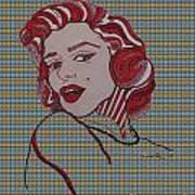 Marilyn Monroe Tartan Poster