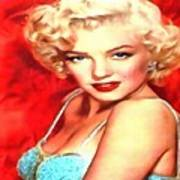 Marilyn Monroe Tribute In Red Poster