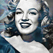 Marilyn On Fire Poster
