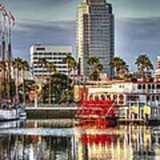 Marina Before Sunset Poster by Pam Vick