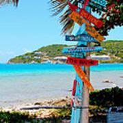 Marina Cay Sign Poster