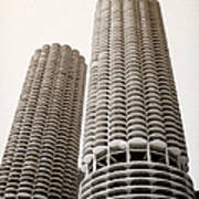 Marina City Chicago Poster by Julie Palencia