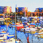 Marina City Club Marina del Rey Poster