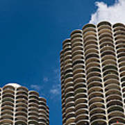 Marina City Morning Poster