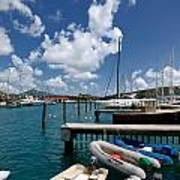 Marina St Thomas Virgin Islands Poster by Amy Cicconi