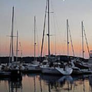 Marina Sunset Afterglow Poster