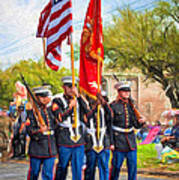 Marine Color Guard - Paint Poster