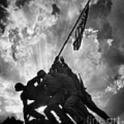 Marine Corps War Memorial Poster