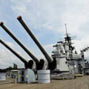 Mark 7 16-inch Gun Barrels On Deck Poster