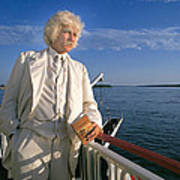 Mark Twain In Mississippi Poster