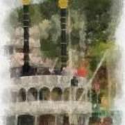 Mark Twain Riverboat Frontierland Disneyland Vertical Photo Art 01 Poster