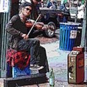 Market Busker 18 Poster