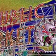 Market Clock 1 Poster