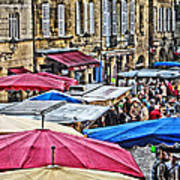 Market Day In Sarlat Poster