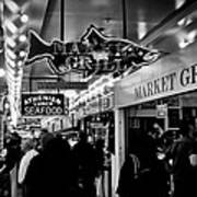 Market Grill In Pike Place Market Poster