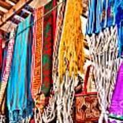 Market Hammocks In El Casco By Diana Sainz Poster