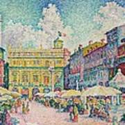 Market Of Verona Poster
