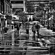 Market Square In The Rain - Knoxville Tennessee Poster