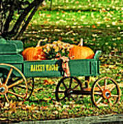 Market Wagon Poster