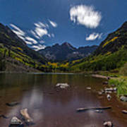 Maroon Bells At Night Poster