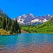 Maroon Bells In Color Poster