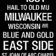 Marquette College Town Wall Art Poster by Replay Photos