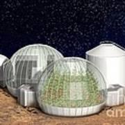Mars Base, Artwork Poster