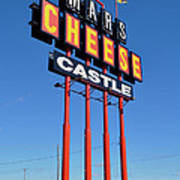 Mars Cheese Castle Poster
