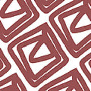 Marsala Envelopes- Abstract Pattern Poster