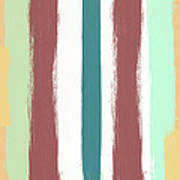 Marsala Stripe- Abstract Pattern Painting Poster