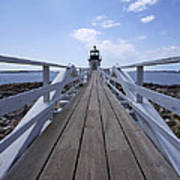 Marshall Point Lighthouse And Walkway Poster