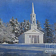 Martha Mary Chapel In Winter Poster by Jayne Carney