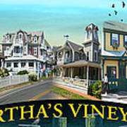 Martha's Vineyard Collage Poster