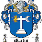 Martin Coat Of Arms Galway Ireland Poster