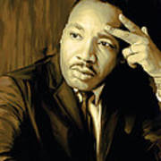 Martin Luther King Jr Artwork Poster by Sheraz A