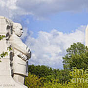 Martin Luther King Jr Memorial And The Washington Monument Poster