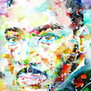 Martin Luther King Jr. - Watercolor Portrait Poster