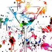 Martini Paint Splatter Poster