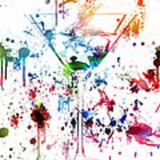 Martini Watercolor  Poster