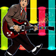 Marty Mcfly Plays Guitar Hero Poster
