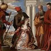 Martyrdom Of Saint Justina Poster