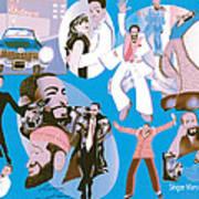 Marvin Gaye Timeline Portrait Poster
