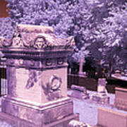 Mary And John Tyler Memorial Near Infrared Lavender And Pink Poster