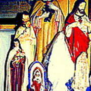 Mary Joseph And Jesus Vintage Religious Catholic Statues Patron Saints And Angels Cb Spandau Quebec Poster