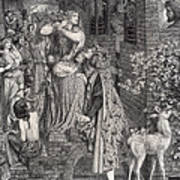 Mary Magdalene At The Door Of Simon Poster